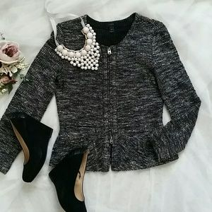 J.Crew boucle tweed peplum jacket